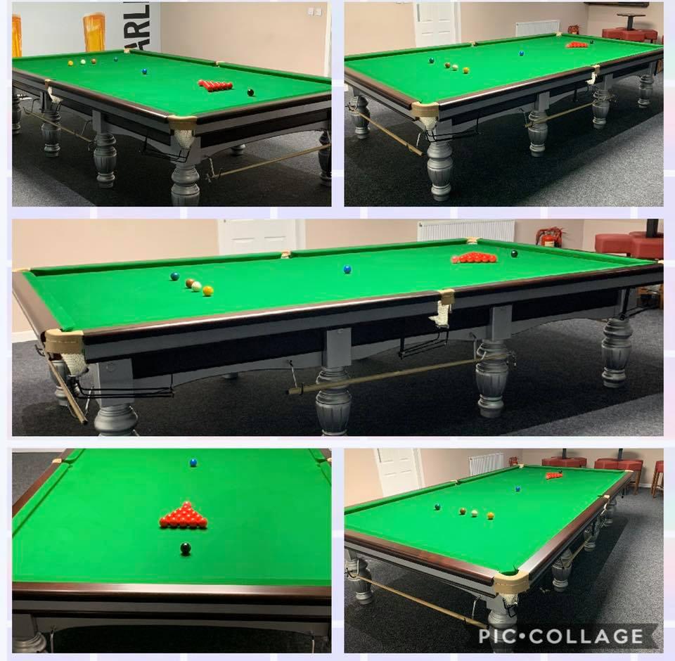 Aristocrat steel block snooker table